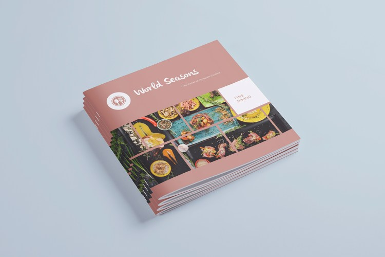 Square Brochure Stapled