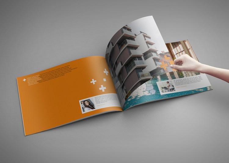 Folded Landscape Brochure Printing