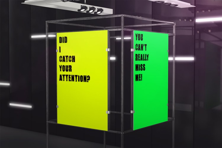 Fluorescent day-glo posters