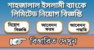 Shahjalal Islami Bank Limited Job Circular 2020