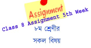 Class 8 Assignment 5th Week