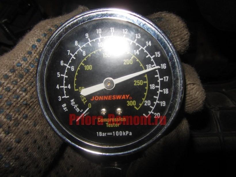 как проверить компрессию в двигателе Приоры