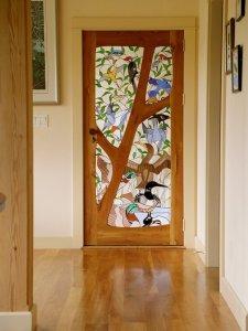 Фото №2 Витражные стекла для дверей