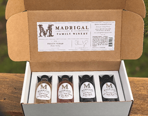 wine tasting kit with small format bottles