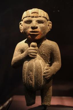 Imagem Escultura Asteca Chocolate