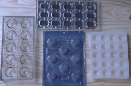 imagem tipos de formas para chocolate