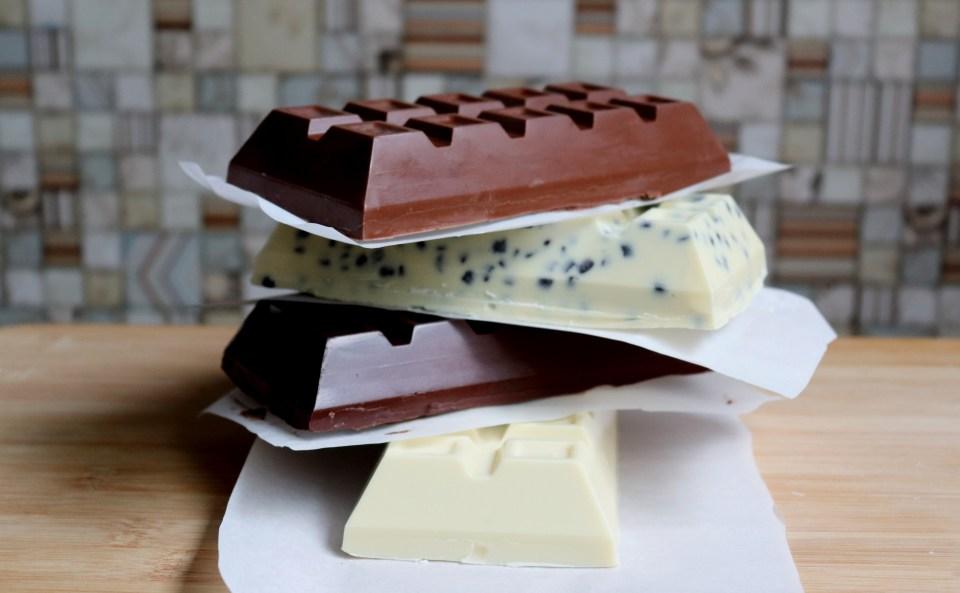 imagem barras de chocolate variadas