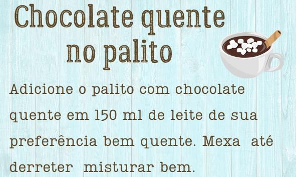 Etiqueta para chocolate quente