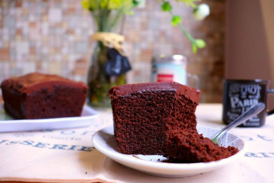 imagem bolo caseirinho de chocolate com café