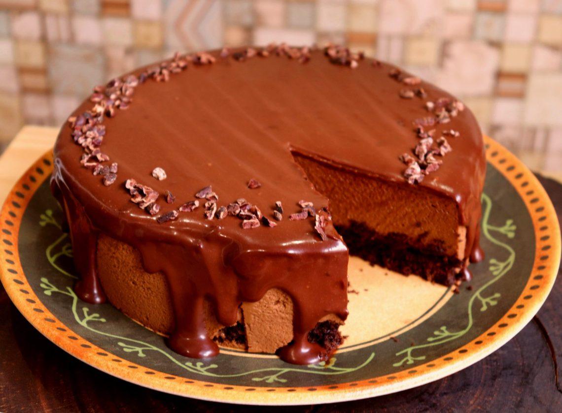 imagem torta mousse de chocolate