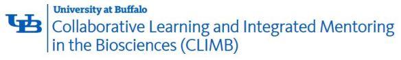 CLIMB Up UB University Summer Research Logo