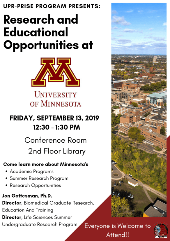 University of Minnesota September 13 2019