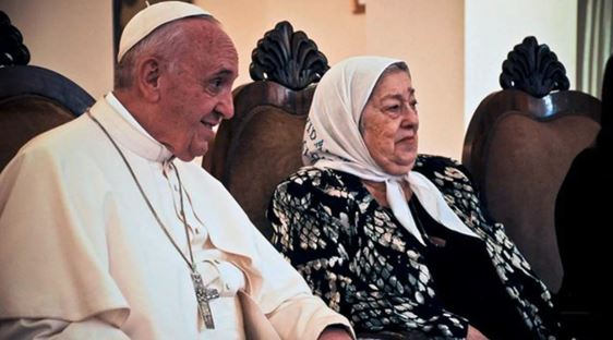 Jorge Bergoglio y Hebe de Bonafini