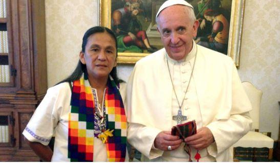 Milagro Sala y Bergoglio