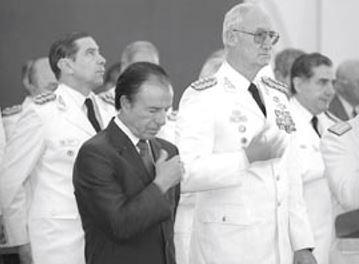 Carlos Menem y Martín Balza