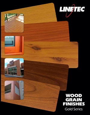 Linetec Offers Wood Grain Finishes Gold Series Brochure Prism
