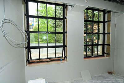 During the project of replacing existing windows with new Wausau windows. Photo courtesy of the University of Colorado (CU) Boulder