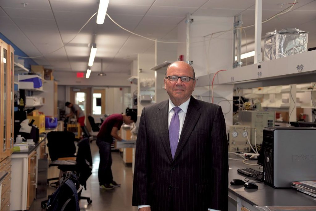 Dr. Cohon in an energy research lab at the Scott Institute