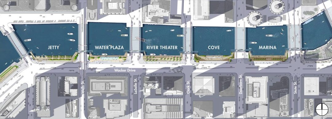 Phases Two and Three of the Chicago Riverwalk. Courtesy of Sasaki