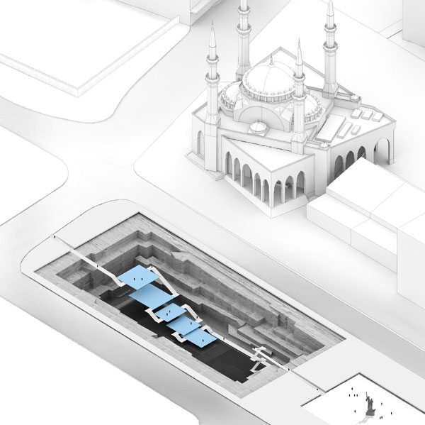 The 'Museum of Civilizations', Technical illustration, 2014. Courtesy GM Architecture