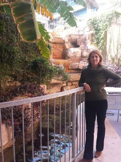 Gail Vittori at Dell Children's Hospital Courtyard in Austin. Courtesy of Steven Peck.