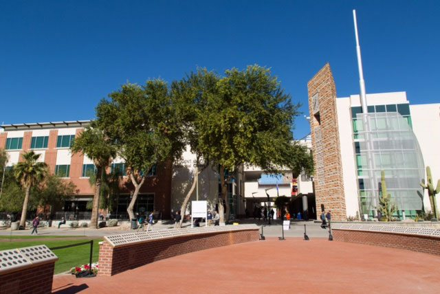USS Arizona Mall Memorial at University of Arizona. Photo: Aengus Anderson