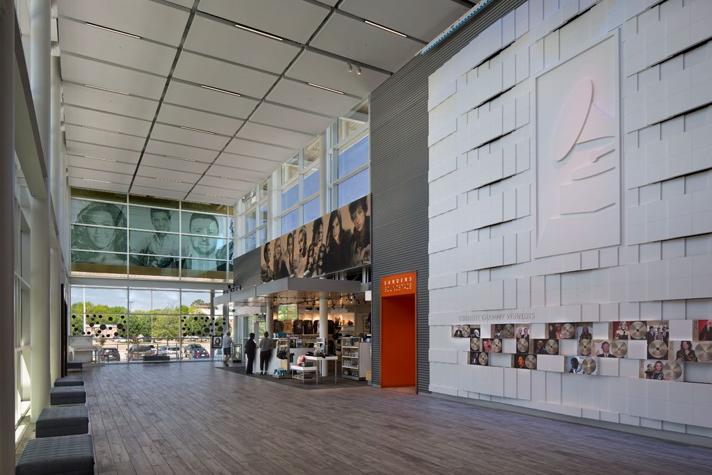 GRAMMY Museum® Mississippi featuring Tubelite curtainwall and entrances. Photo credit: © Rion Rizzo / Creative Sources Photography, Inc.