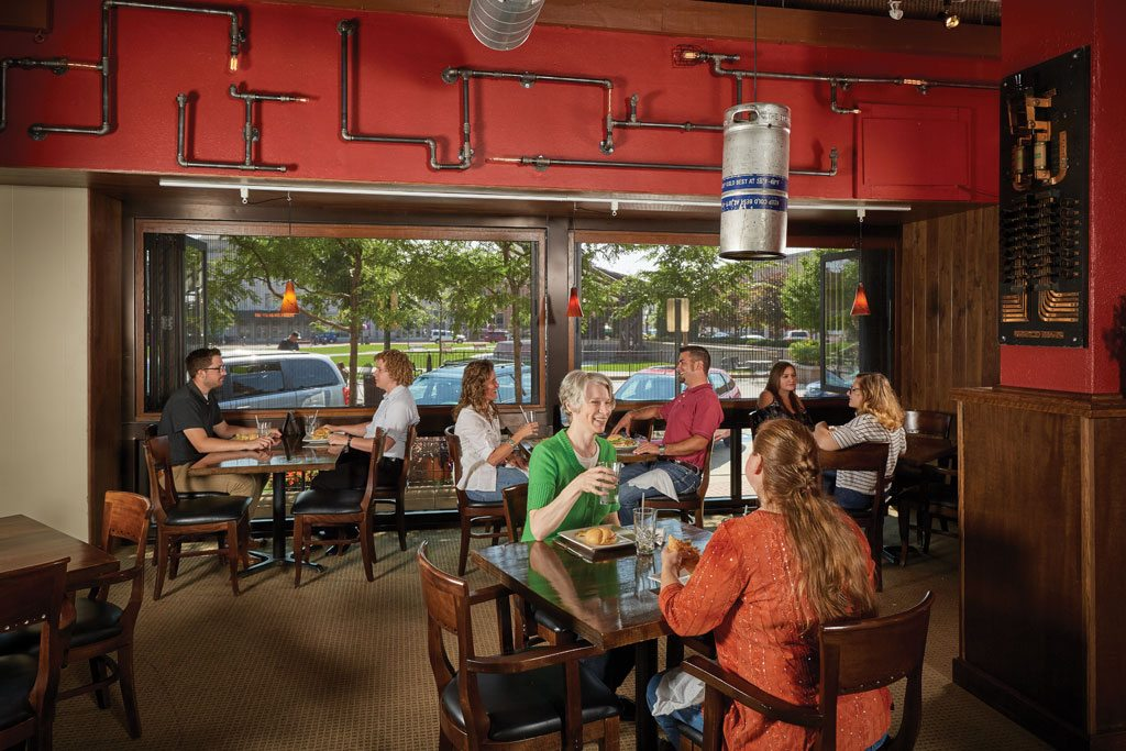 Malarkey's Pub and Townies Grill in Wausau, Wis. Image credit: Peter Vance. Courtesy of Kolbe Windows & Doors