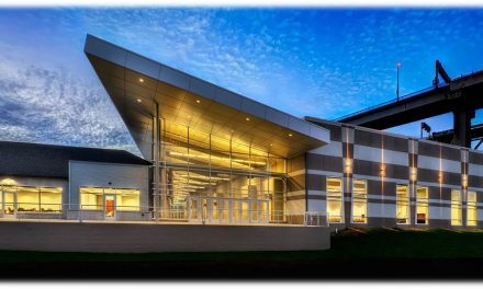 Blue Water Convention Center capitalizes on waterfront views with curtainwall