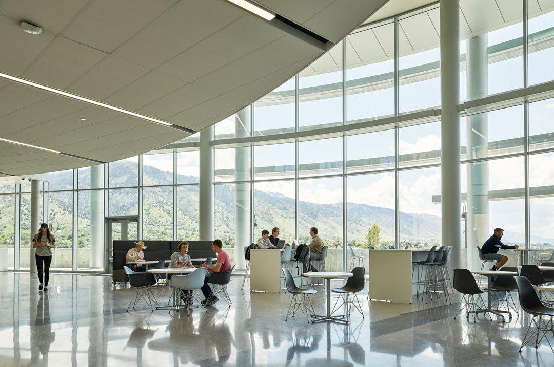 Jon M. Huntsman Hall at Utah State University, Logan, Utah. Photo: © Kevin Scott