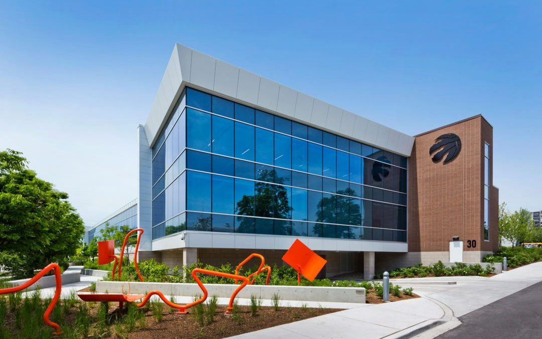 Toronto Raptors training center unites bird-friendly Walker Glass with tinted and low-e glasses by Vitro Architectural Glass