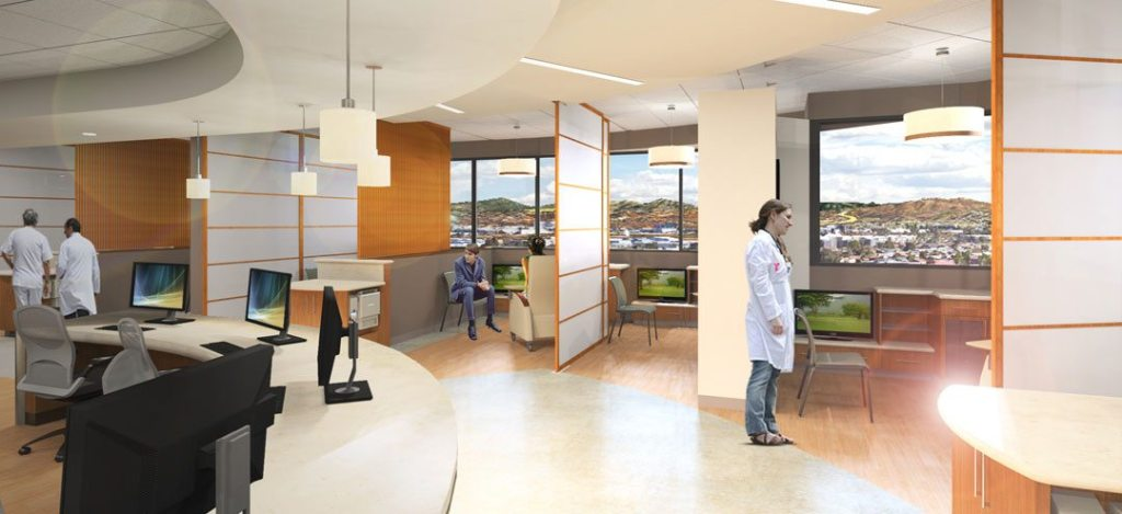 Rendering of Sharp Infusion Therapy built by BNBuilders.