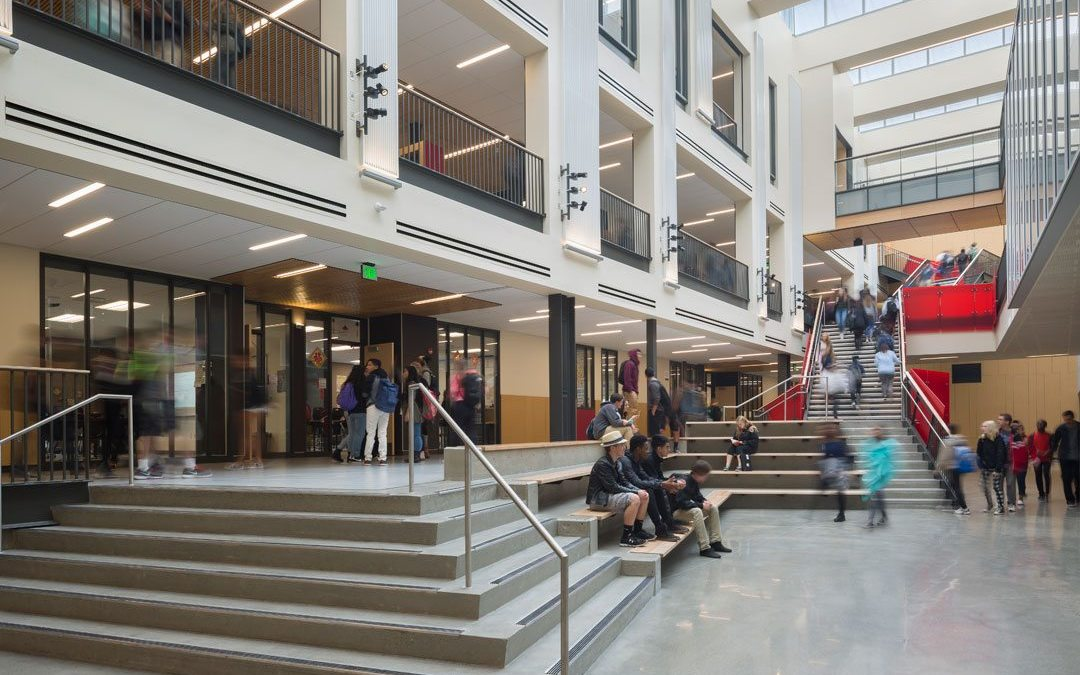 Washington's Sammamish High School features Rockfon ceiling systems