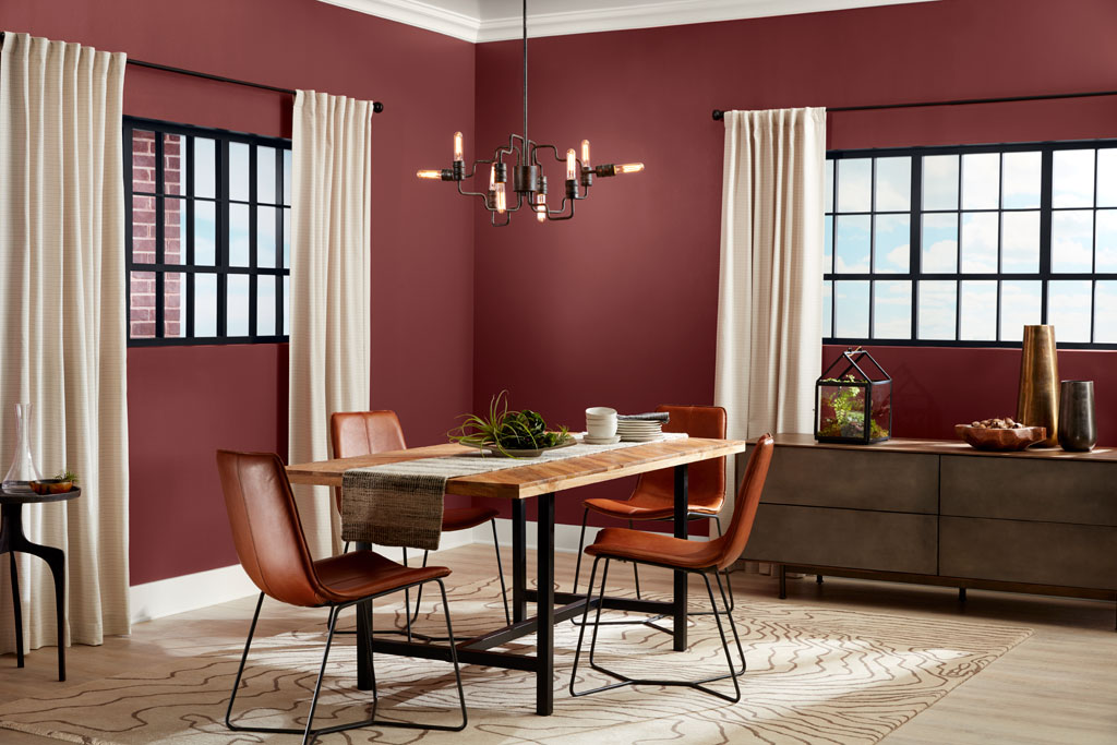 """""""Deep and sensuous, this red is mature enough to hold its drama to a simmer."""" - Sue Kim, Valspar Sr. Color Designer"""