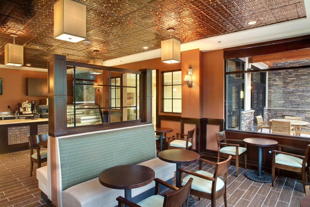 Senior living communities that are designed with sustainability in mind can increase both energy efficiency and comfort for residents and visitors. When designing high performance buildings, it's important to look at both interior and exterior building design. Photo credit: Fred J. Fuhrmeister for OZ Architecture