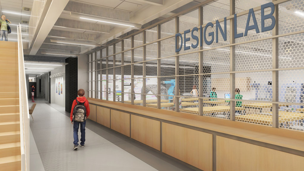 Sartell High School Design Learning Lab. Rendering by Cuningham Group