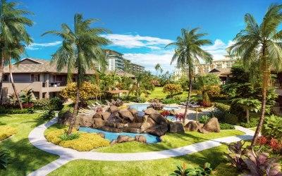 Tropical Modernism at New Community Luana Garden Villas on Maui