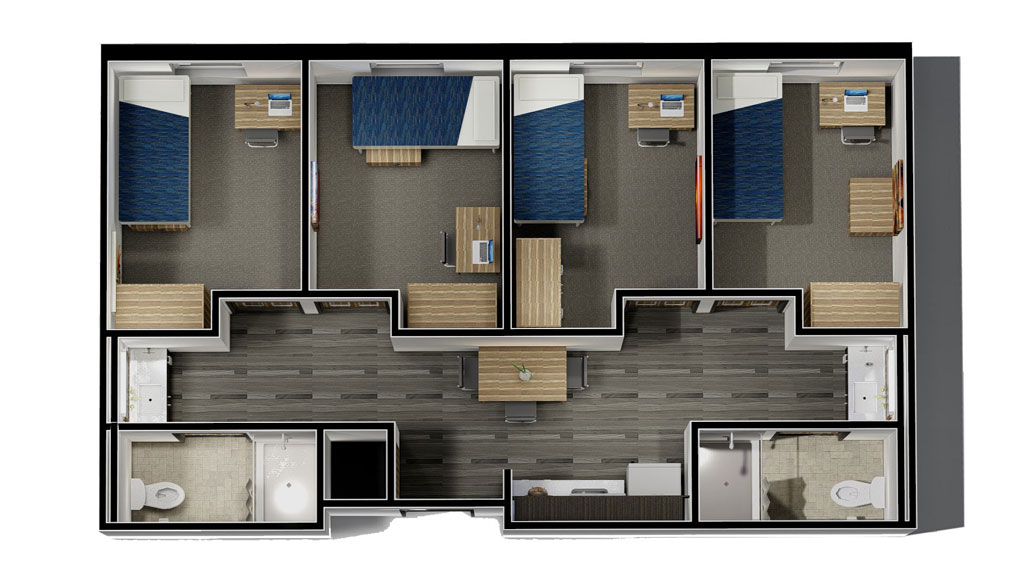 Typical Semi-Suite Unit