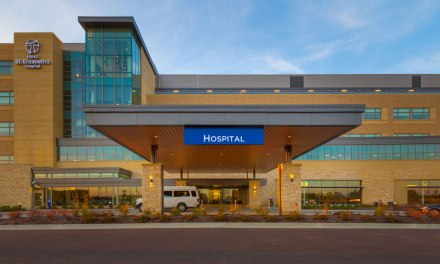 St. Elizabeth's Hospital features inviting canopies outside, patient-focused care inside