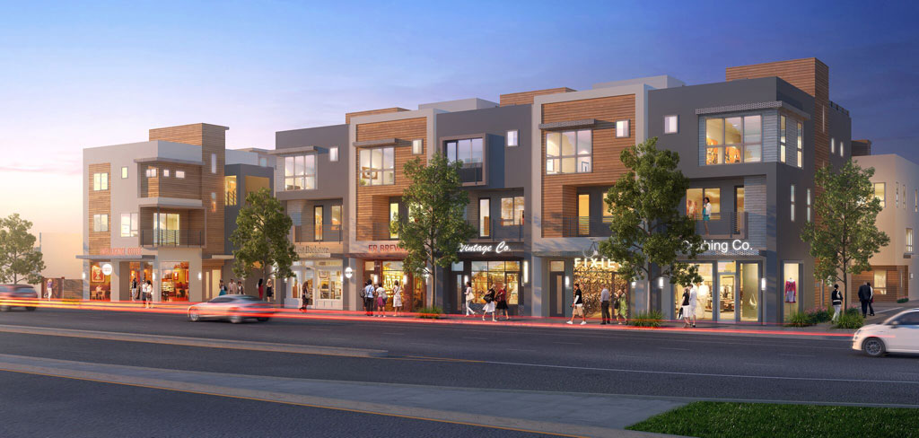 The E.R.B. in the Eagle Rock community of Los Angeles. Rendering by KTGY Architecture + Planning