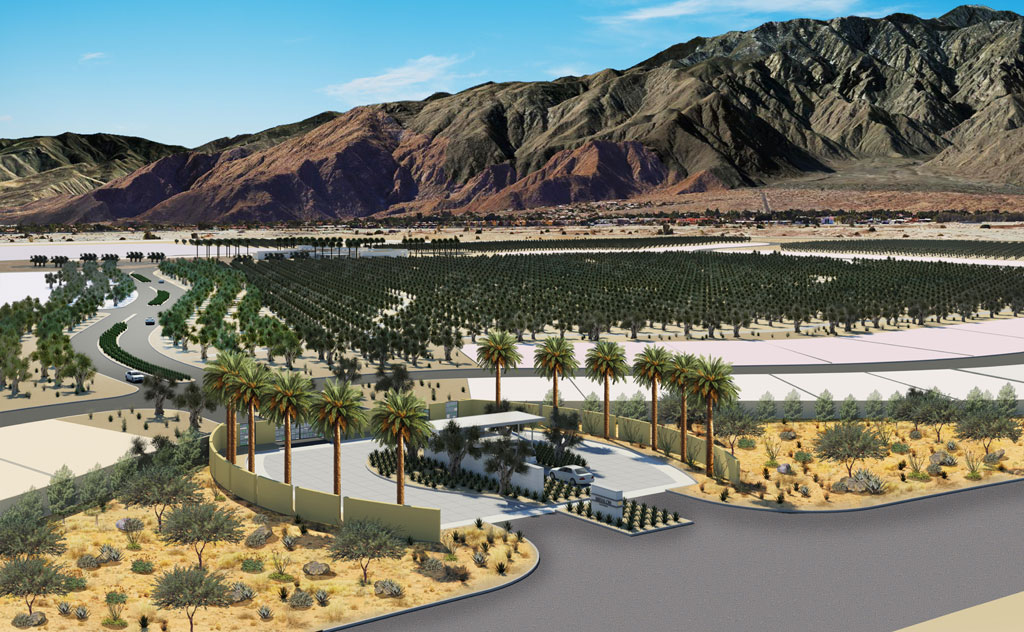 "Miralon in Palm Springs is one of the largest emerging ""agrihoods"" in the U.S. Image by Freehold Communities"