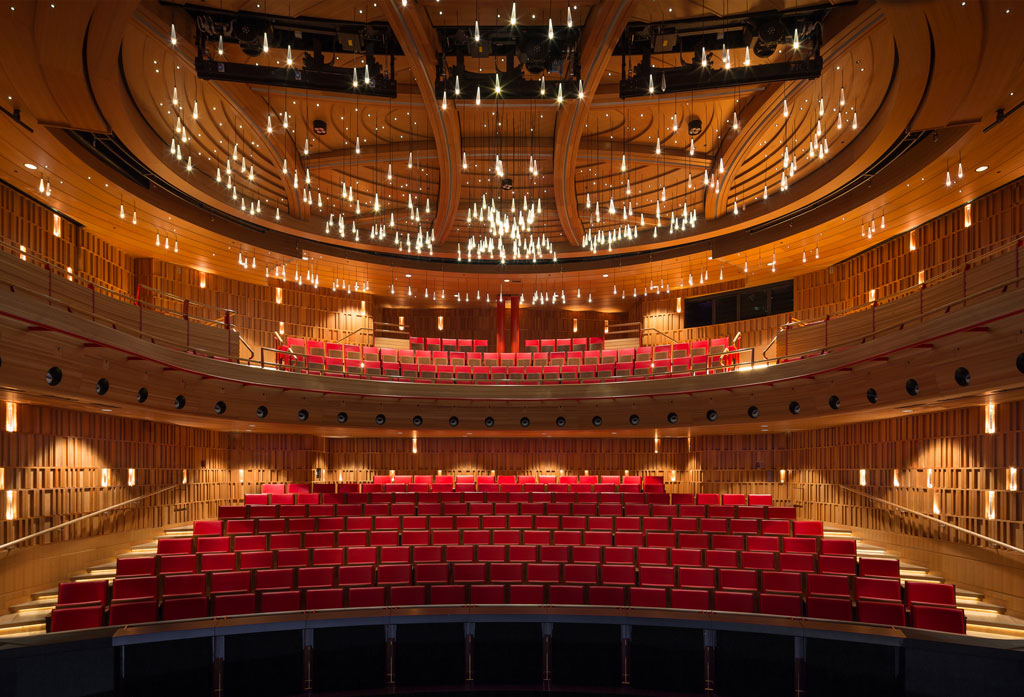 Royal Academy of Music Theatre and Recital Hall by Ian Ritchie Architects located in London, UK. Photo credit: © Adam Scott