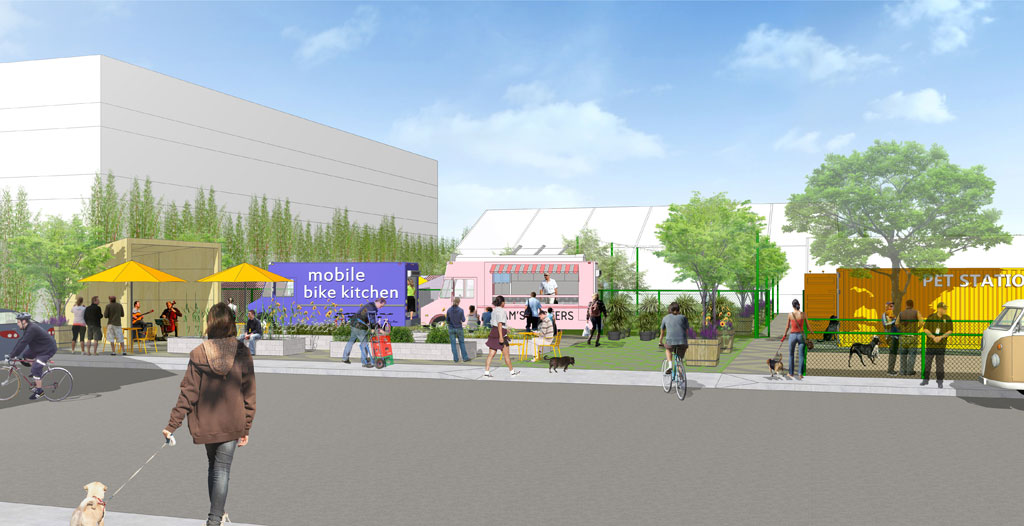Rendering from landscape planning and architecture teams SWA and Studio One Eleven.