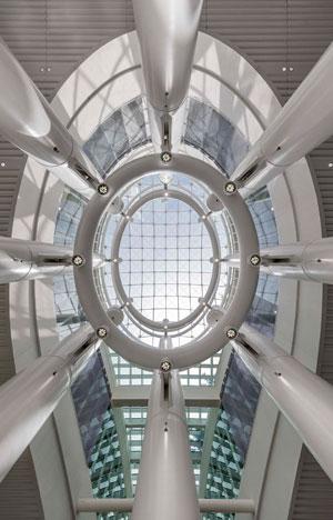 Salesforce Transit Center Light Column. Credit: ©Tim Griffith