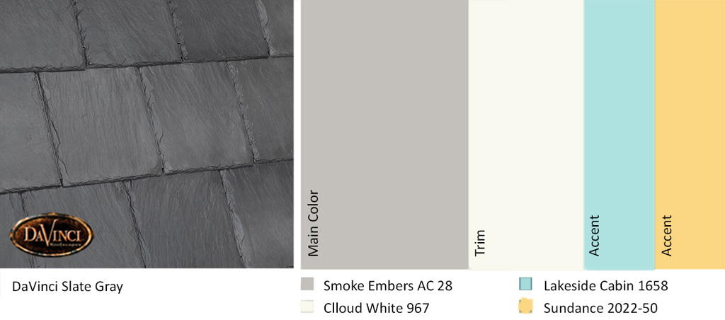 """People wishing to create a more welcoming, upbeat exterior to their homes can use many of the colors Smith identifies in her """"Reconnect"""" color palette."""