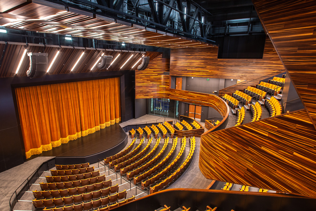 550-seat PNC Theatre in the Pittsburgh Playhouse at Point Park University in Pittsburgh. Photo by John Aldorfer