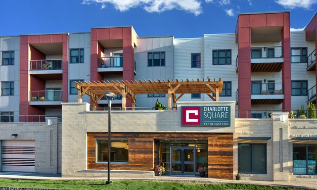 """Feeney DesignRail® """"opens up the view"""" in LEED-certified mixed-use Charlotte Square"""