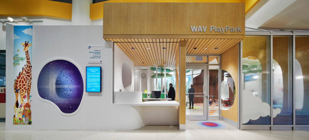 The PlayPark, as seen from the inside of SickKids Hospital in Toronto. Photo credit: Richard Johnson