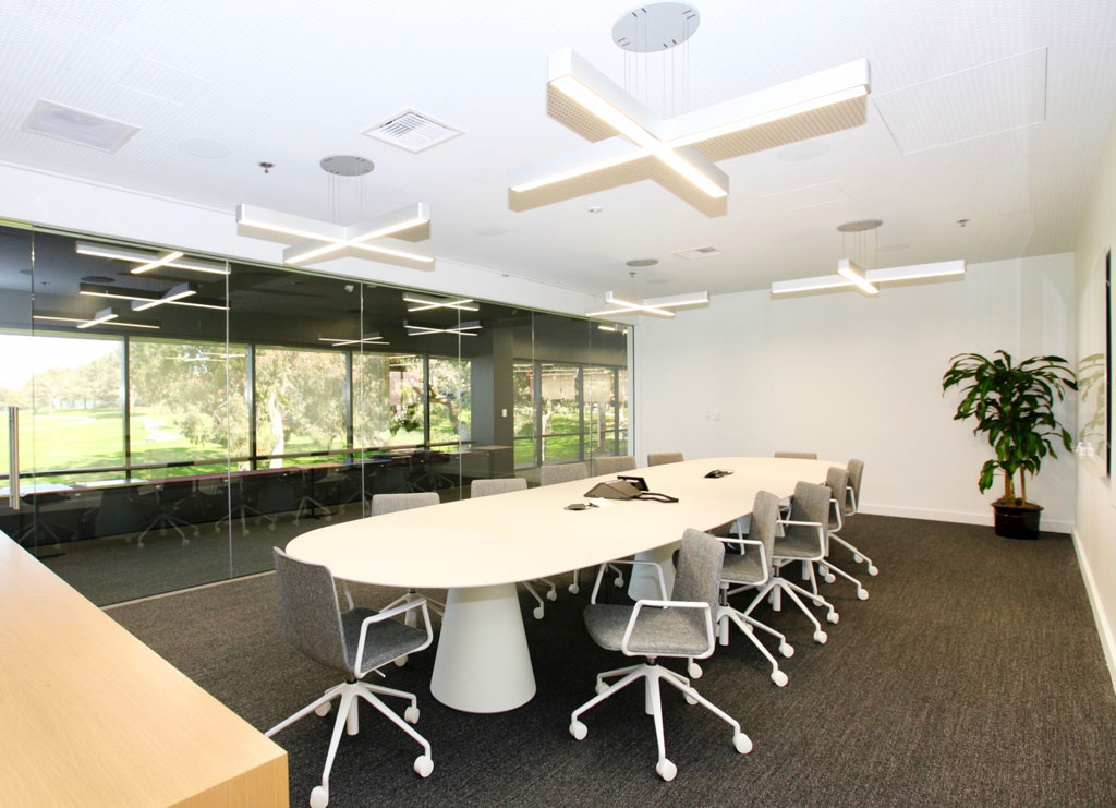 Interior of UC San Diego's Torrey Pines Center South designed by The Miller Hull Partnership, courtesy BNBuilders.