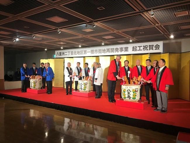 Pickard Chilton Principal Bill Chilton participates in the purification ceremony in Tokyo on December 3.